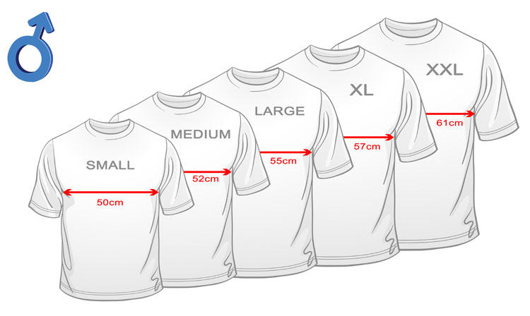 Find high quality Size Chart Men's T-Shirts at CafePress. Shop a large selection of custom t-shirts, longsleeves, sweatshirts and more.