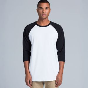 AS Colour - 3/4 Raglan Baseball Sleeve Tee Thumbnail