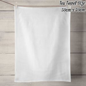 50% Linen Tea Towel - White Thumbnail