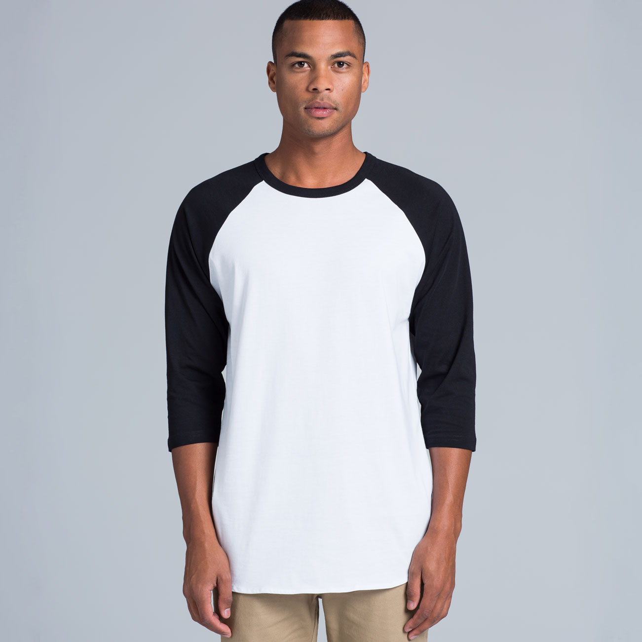 Mens 3 4 Sleeve Baseball T Shirt - BCD Tofu House 9f6c8933e